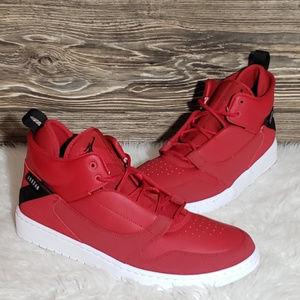 New Nike Jordan Fadeaway Red Sneakers